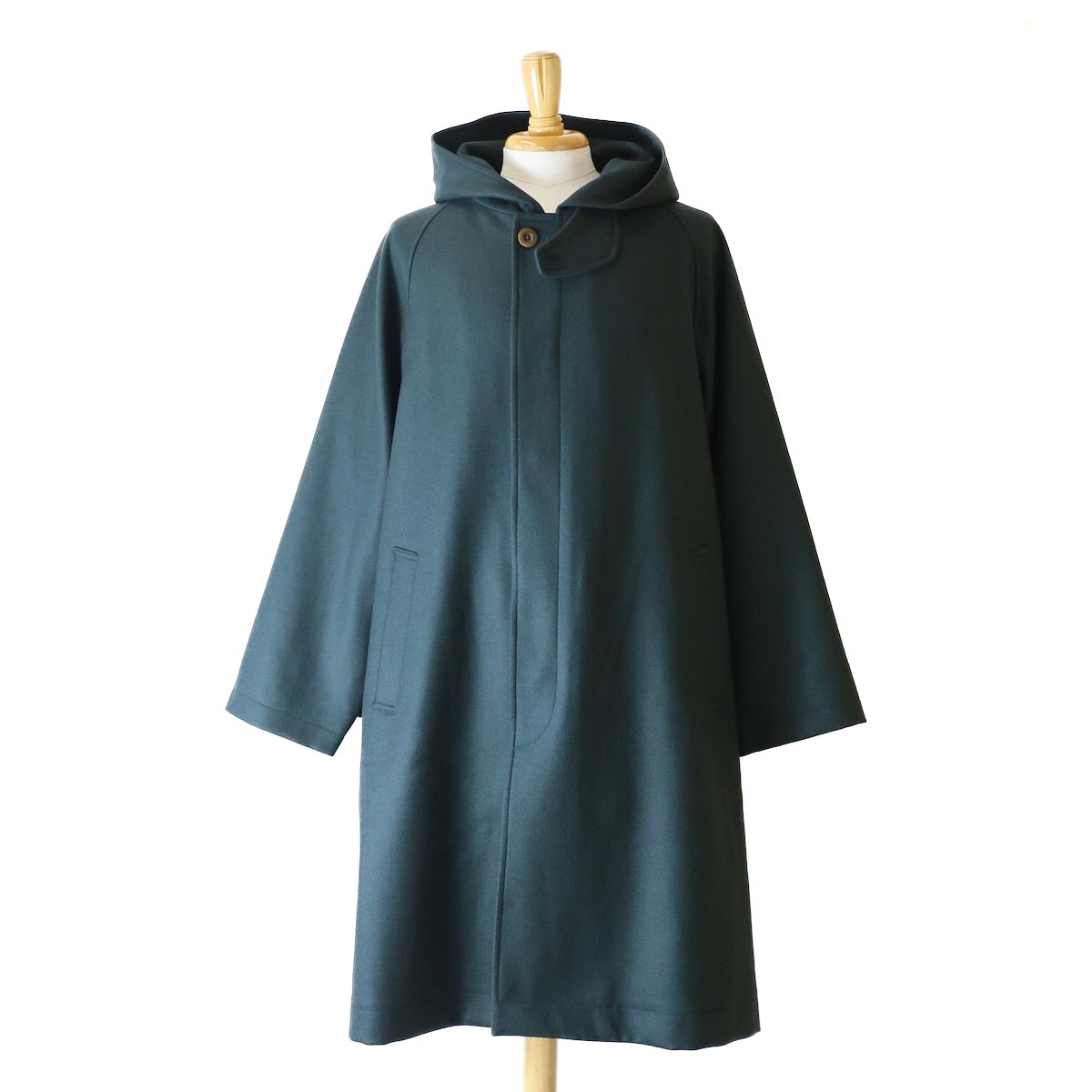 Kaptain Sunshine / Fooded Coat -GREEN