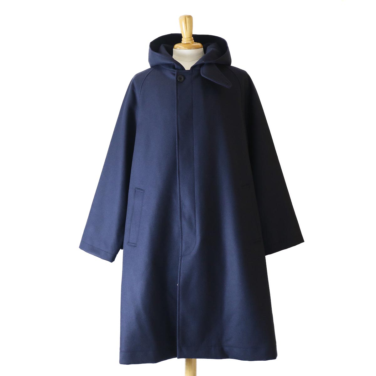 Kaptain Sunshine / Fooded Coat -NAVY