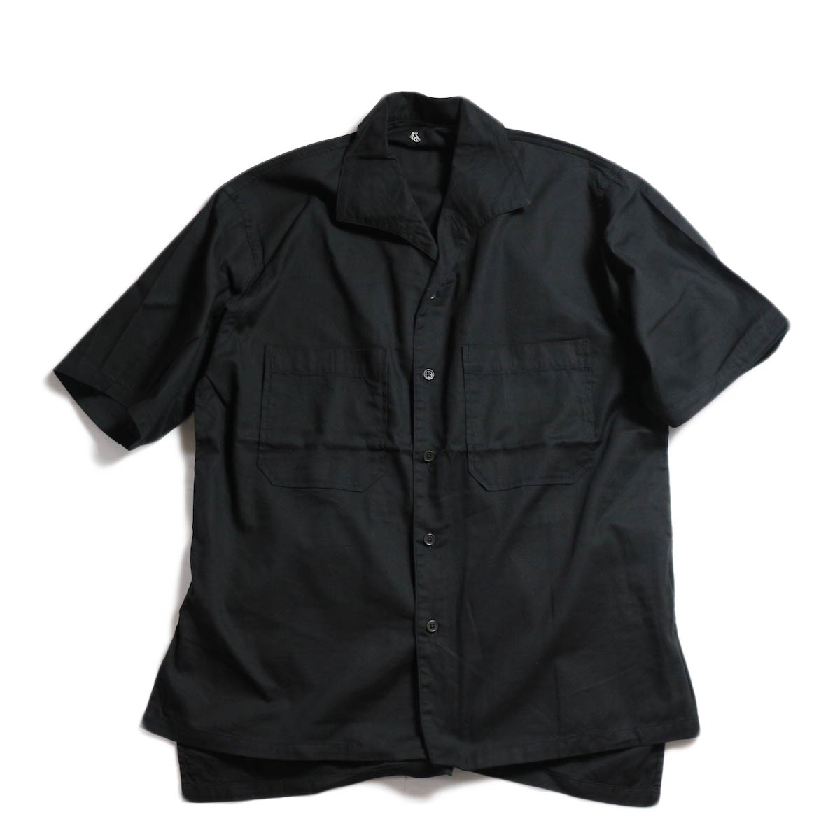 Kaptain Sunshine / Italian Collar Safari Shirt -Black