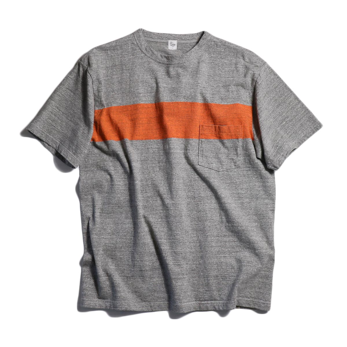 Kaptain Sunshine / West Coast Tee -Feather Grey / Orange Line