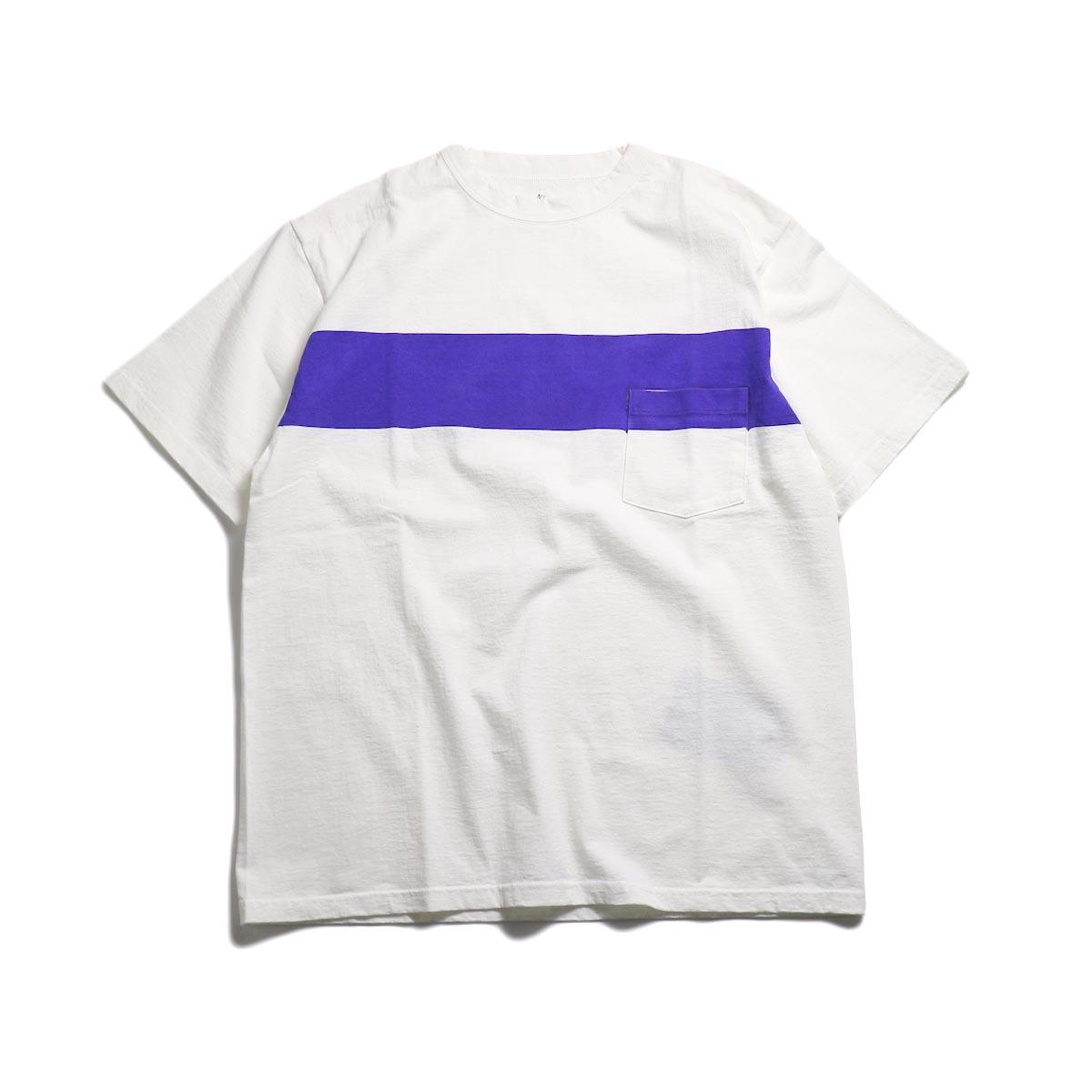 Kaptain Sunshine / West Coast Tee -White×Navy Blue