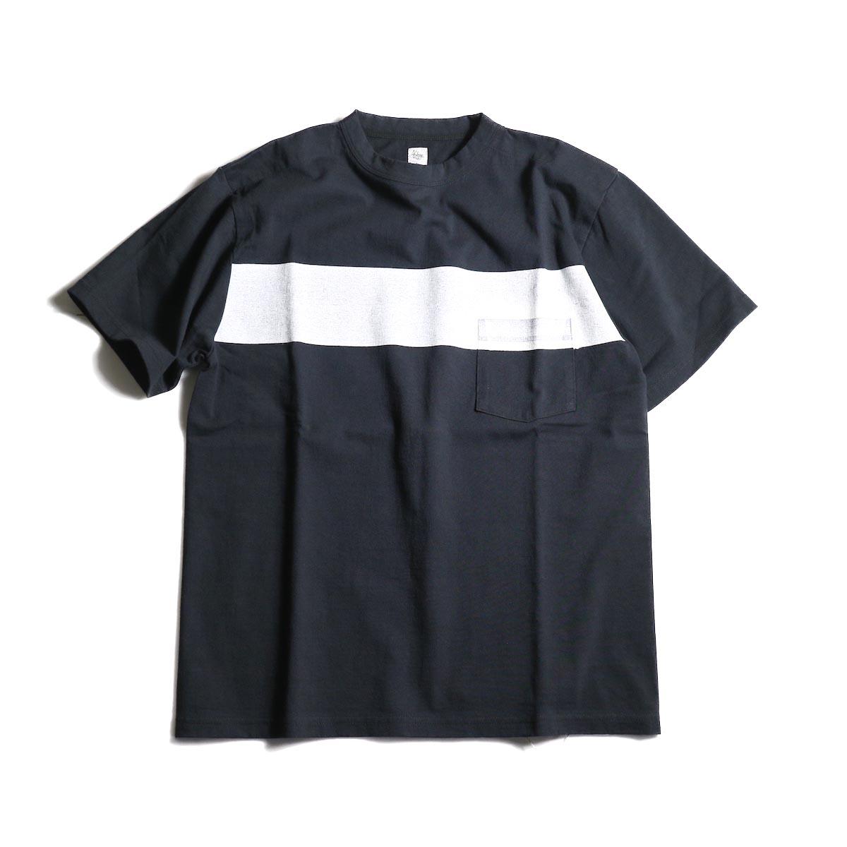 Kaptain Sunshine / West Coast Tee (Dark Navy × White Line)