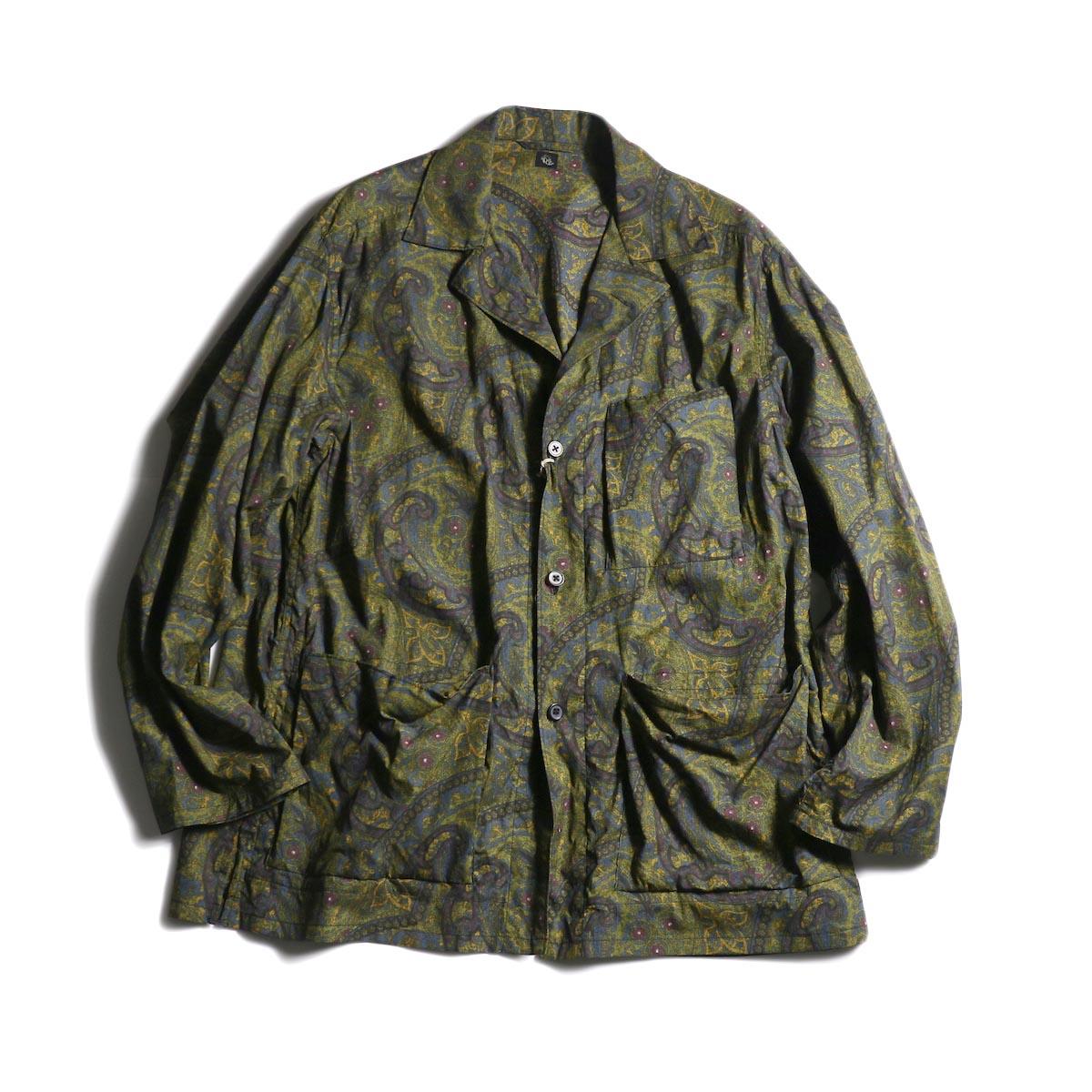 Kaptain Sunshine / Traveler Shirt Jacket (Dark Paisley)