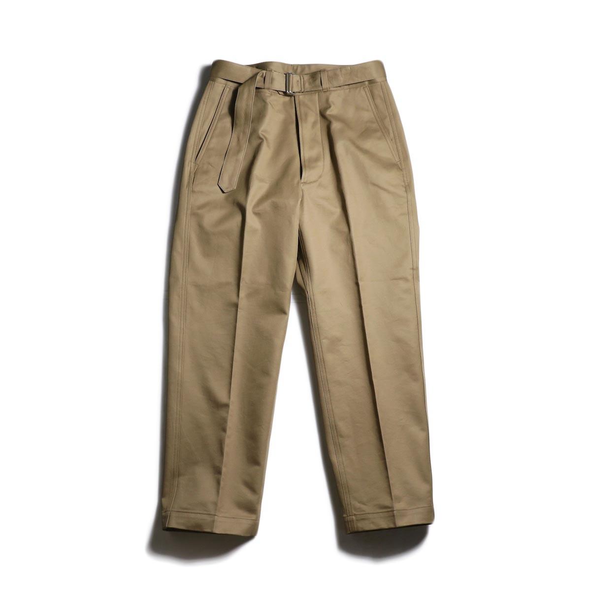 Kaptain Sunshine / Belted Work Trousers (Khaki)