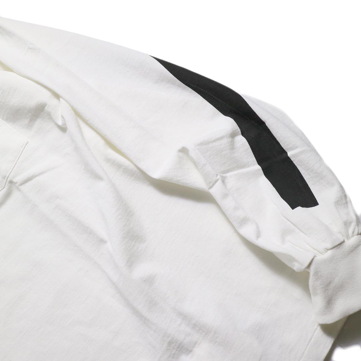 Kaptain Sunshine / West Coast L/S Tee -White × Black & Grey Line 左袖