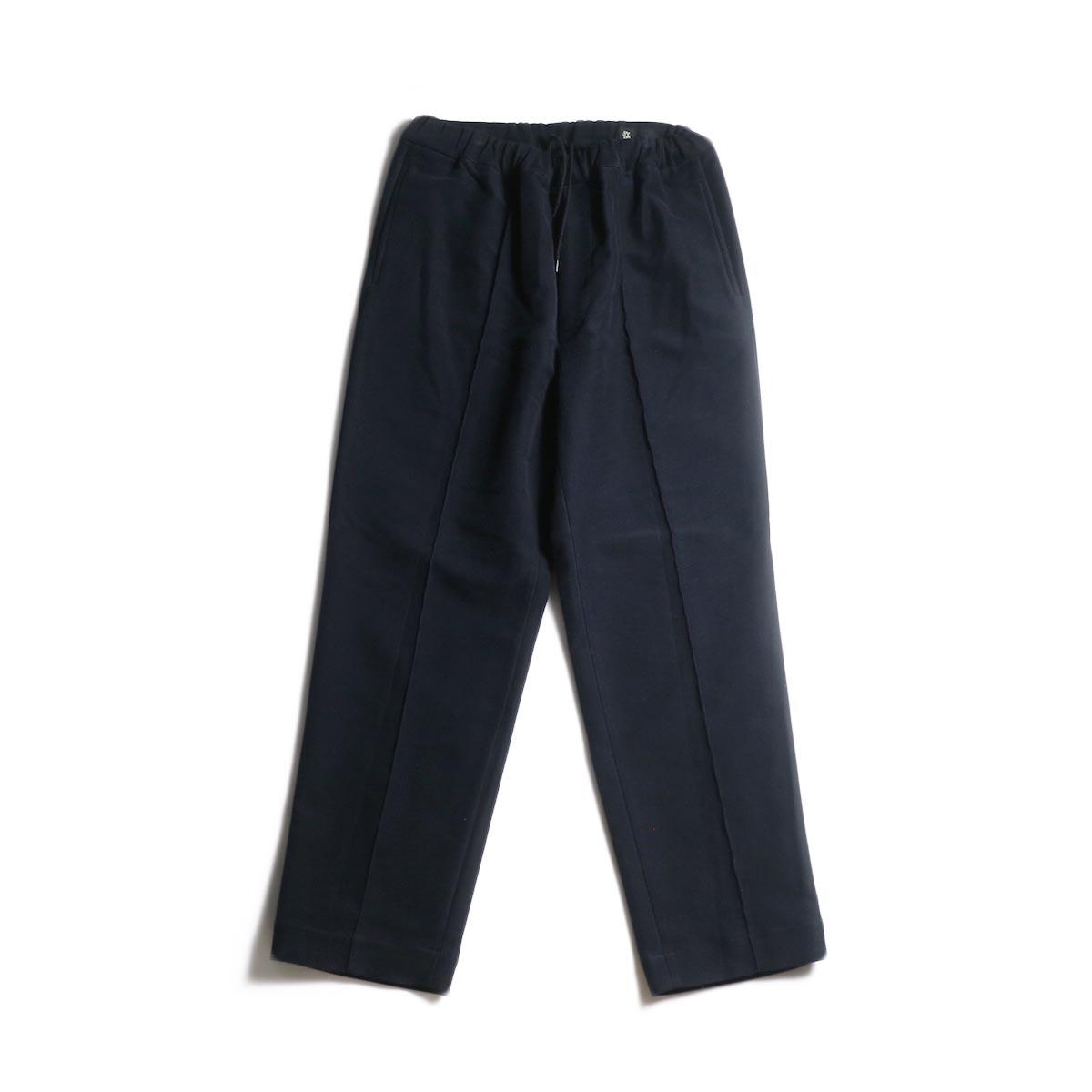 Kaptain Sunshine / Crease Tucked Easy Pants (Dark Navy)