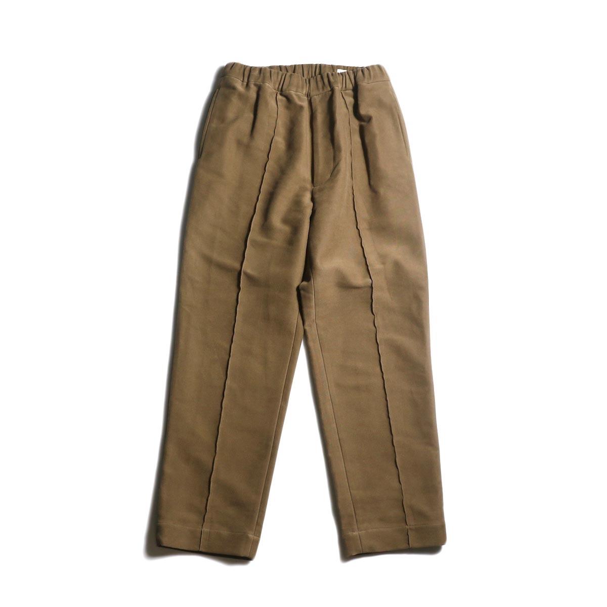 Kaptain Sunshine / Crease Tucked Easy Pants (Mocha Brown)