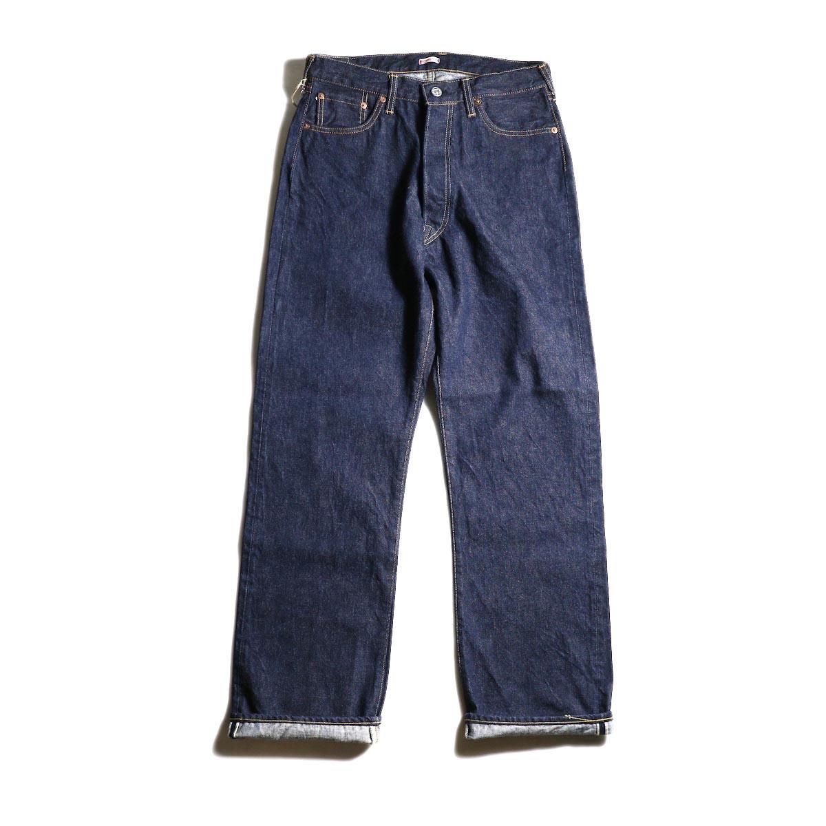 Kaptain Sunshine / Baggy Cut Straight Denim Pants -One Wash 正面