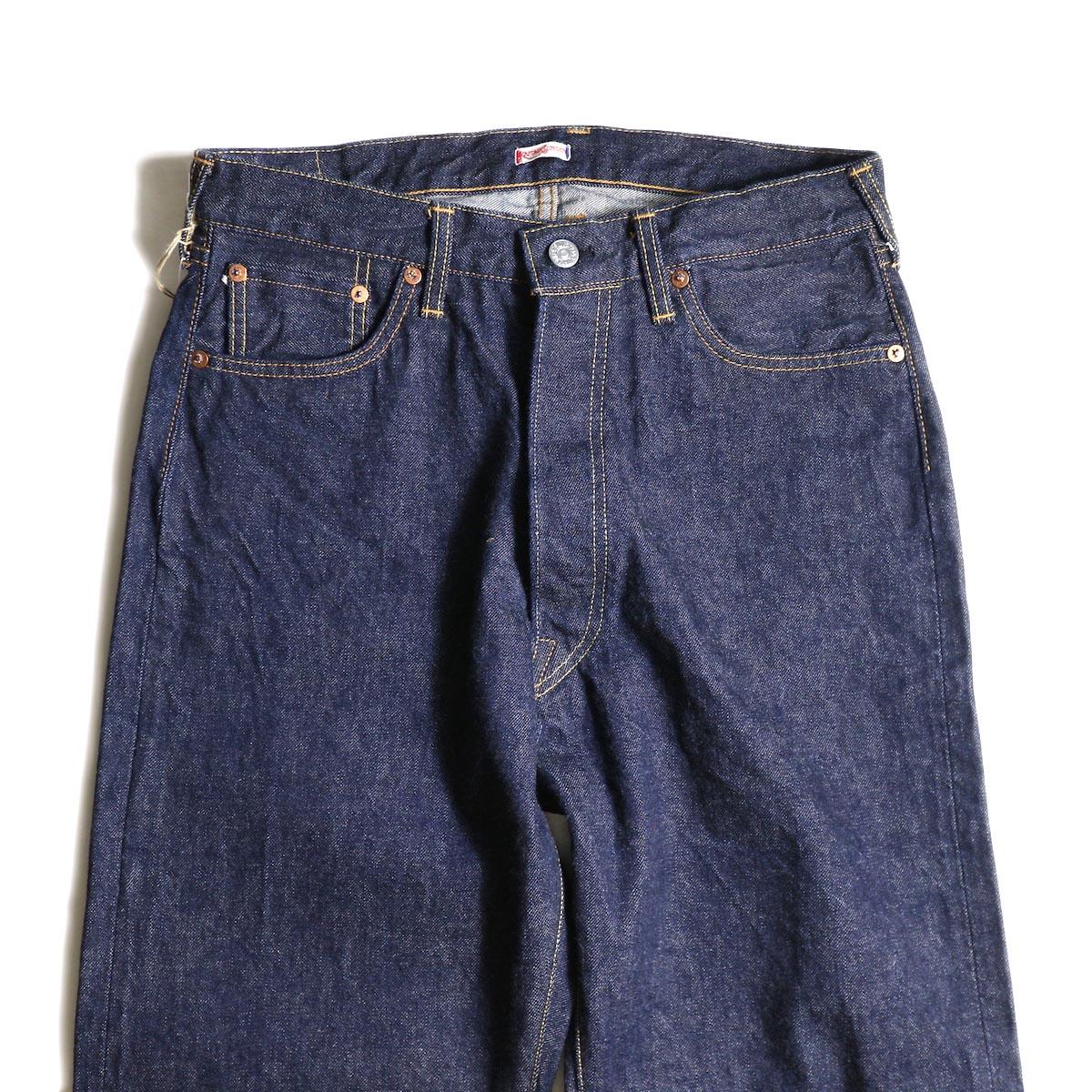 Kaptain Sunshine / Baggy Cut Straight Denim Pants -One Wash ウエスト