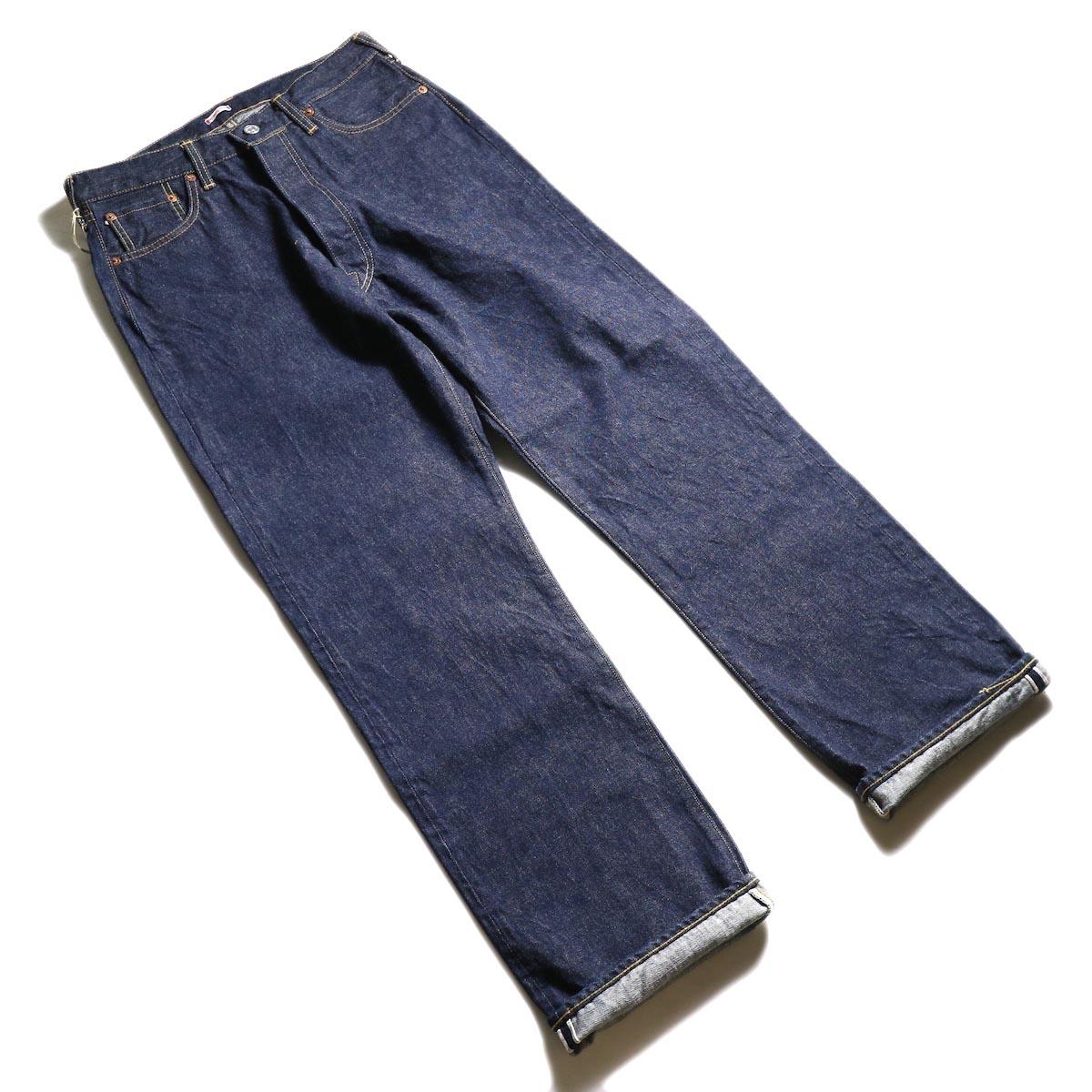 Kaptain Sunshine / Baggy Cut Straight Denim Pants -One Wash 全体