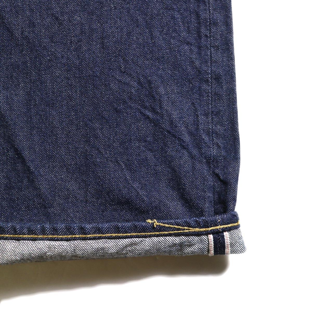 Kaptain Sunshine / Baggy Cut Straight Denim Pants -One Wash セルビッチ