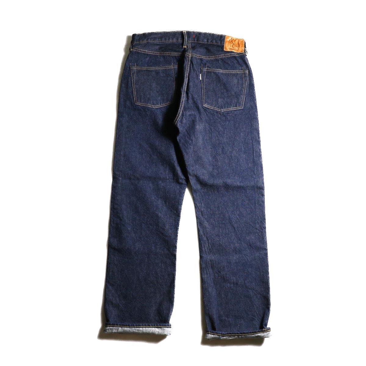 Kaptain Sunshine / Baggy Cut Straight Denim Pants -One Wash 背面