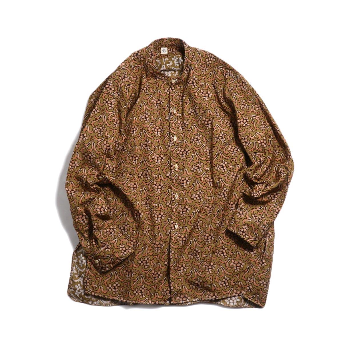 Kaptain Sunshine / Band Collar Shirt -Sand Beige