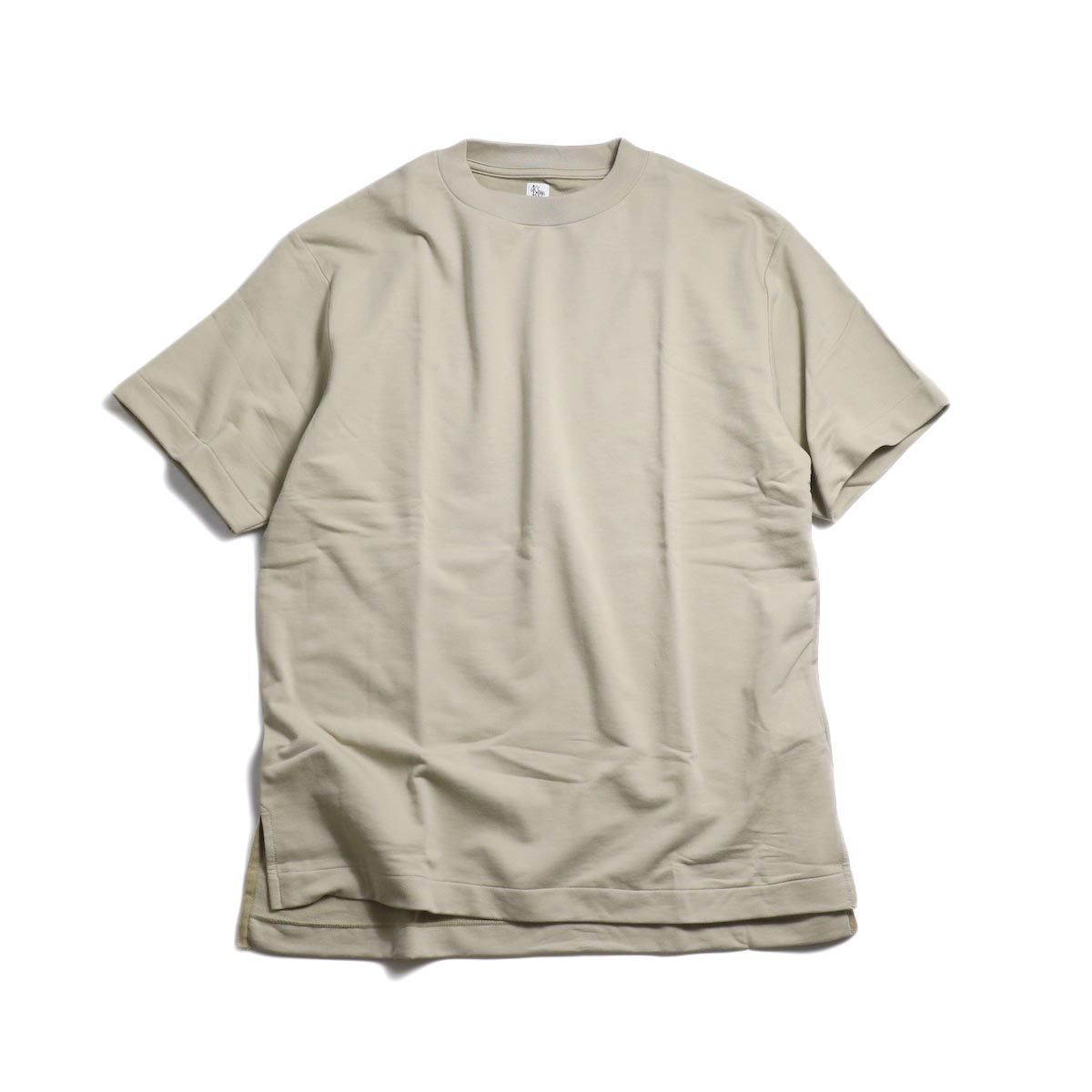 Kaptain Sunshine / Crewneck Tee -Taupe Grey