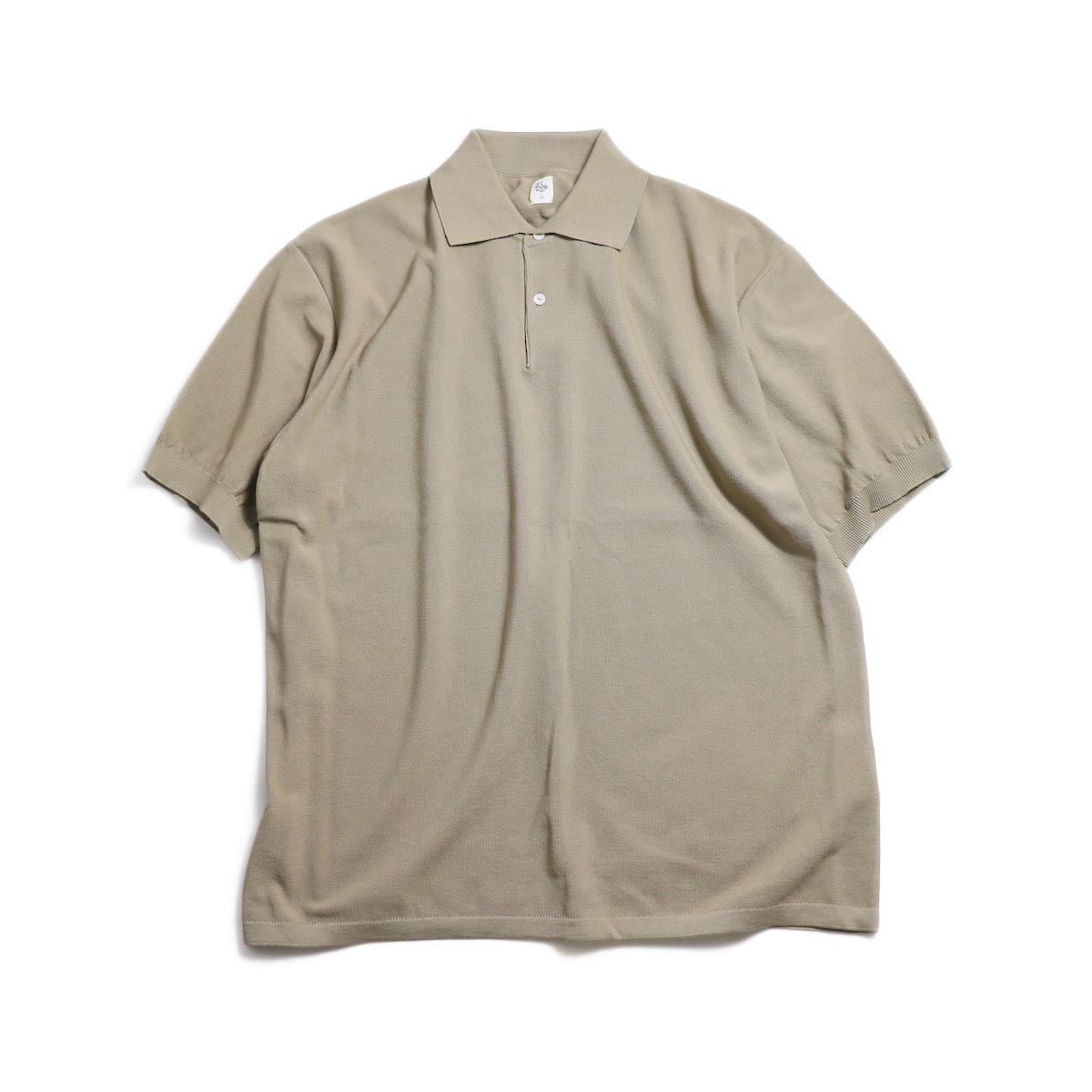 Kaptain Sunshine / Polo Collar Knit Shirt -Safari Solid