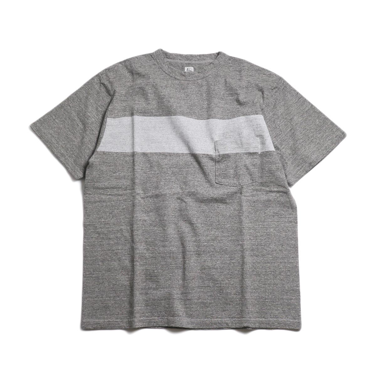 Kaptain Sunshine / West Coast Tee -Feather Grey×Light Grey Line