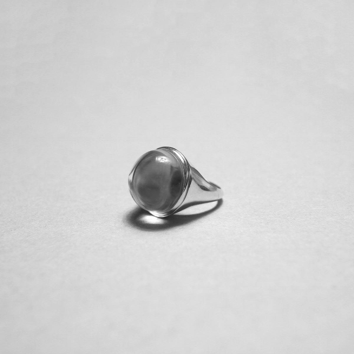 LAN / glass × silver pinky ring ②