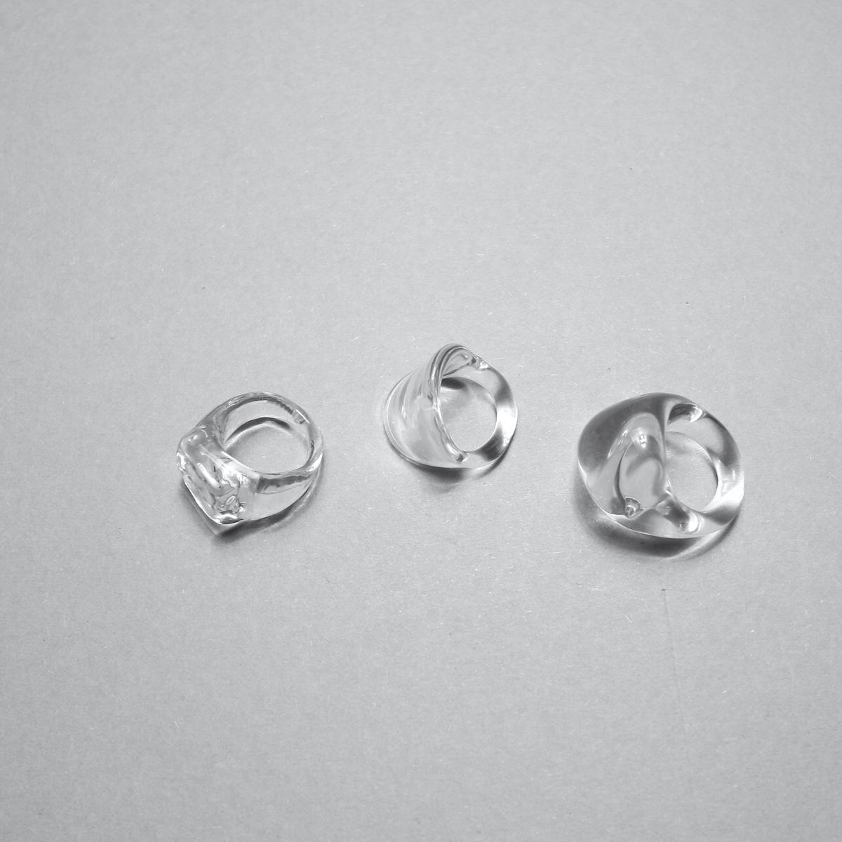 LAN / glass ring square ring 比較