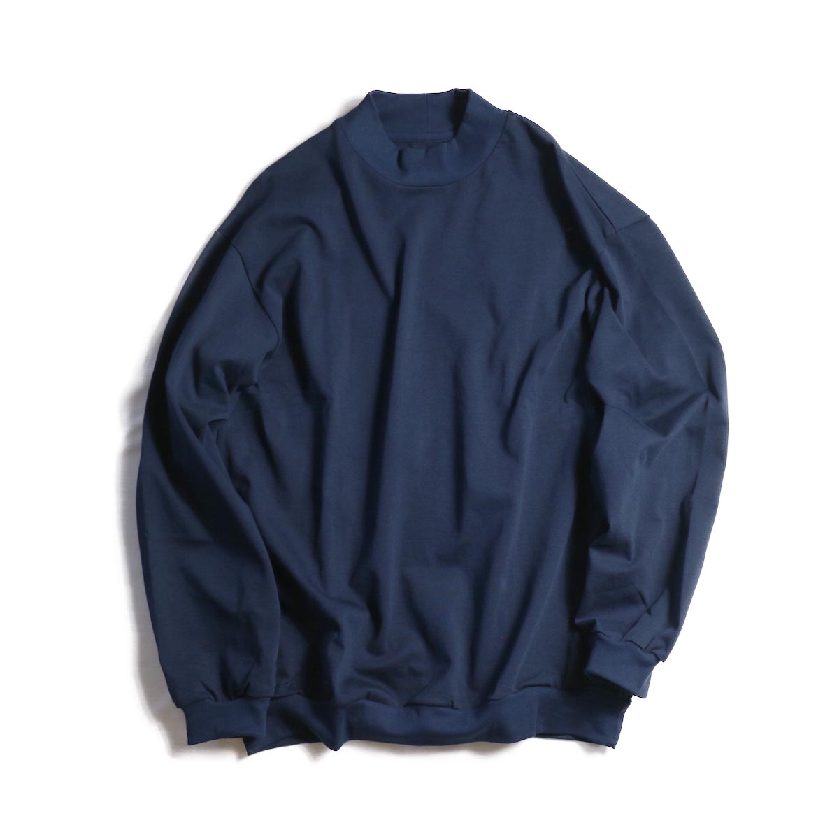 Living Concept / HEAVY MOCK NECK L/S T-SHIRT -Navy