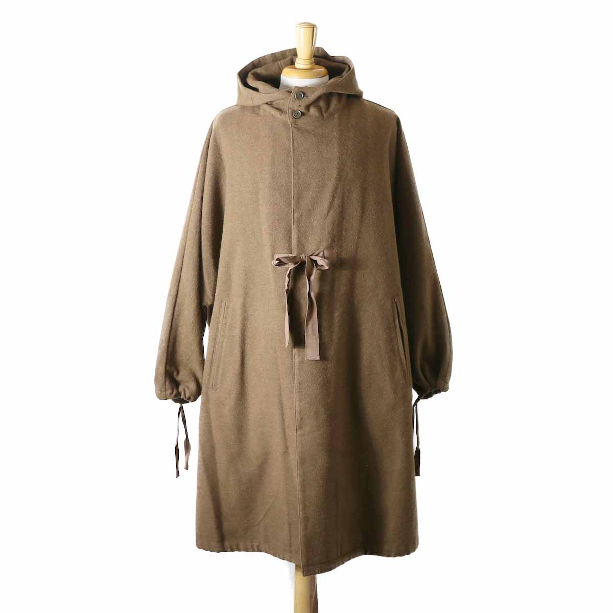 Living Concept / Cotton Wool Poncho -BROWN