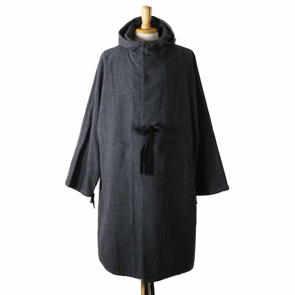 Living Concept / Cotton Wool Poncho -GRAY