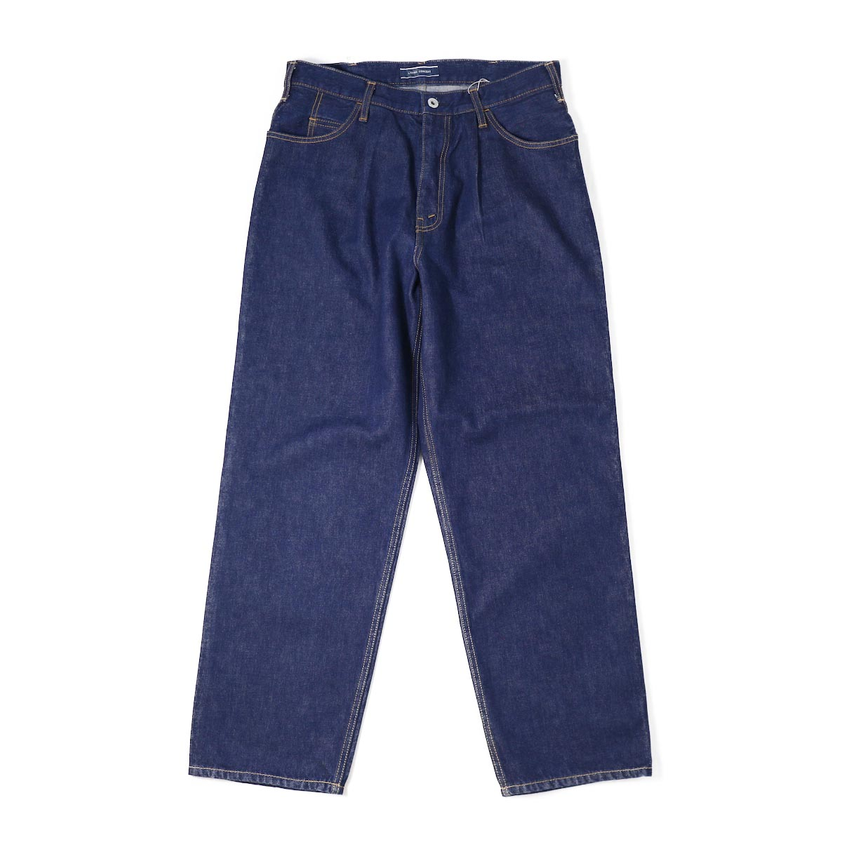 Living Concept / TUCK WIDE DENIM PANTS ONE WASH