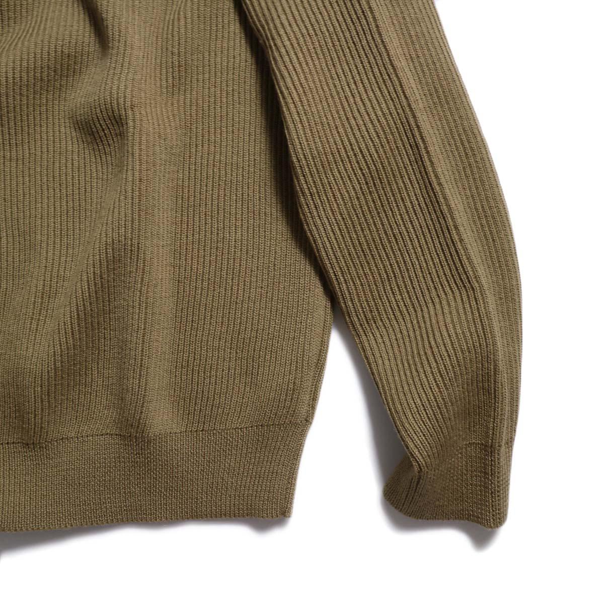 Living Concept / LOW GAUZE TURTLENECK KNIT -BEIGE  裾