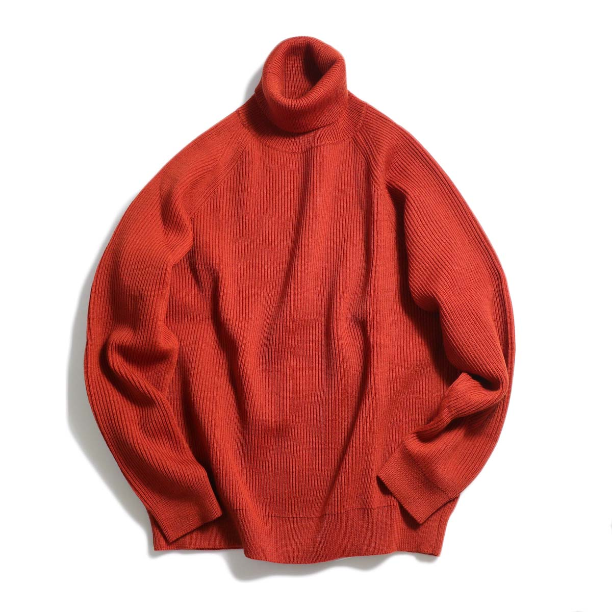 Living Concept / LOW GAUZE TURTLENECK KNIT -RED 正面