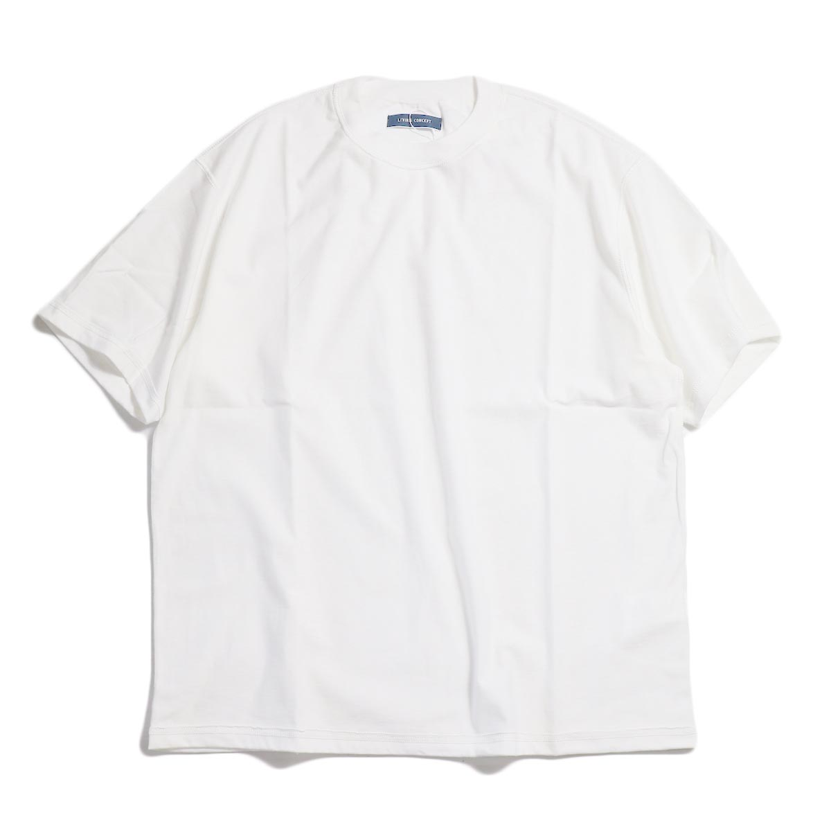 LIVING CONCEPT / INSIDEOUT T-SHIRT -White