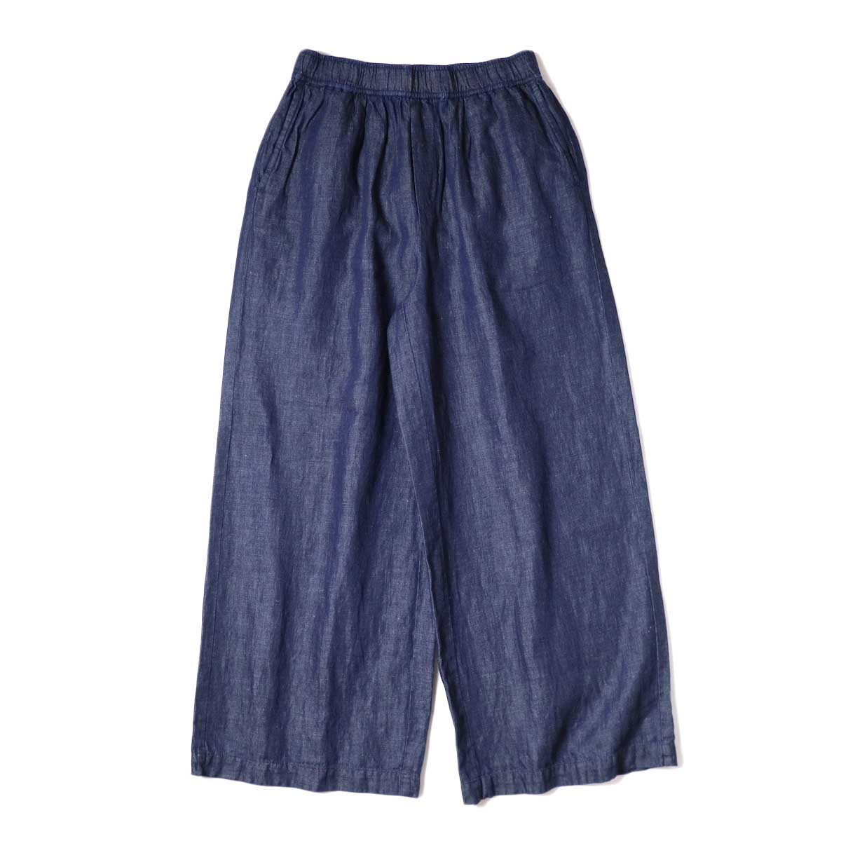 maison de soil / COTTON LINEN EASY WIDE PANTS (Navy) 正面
