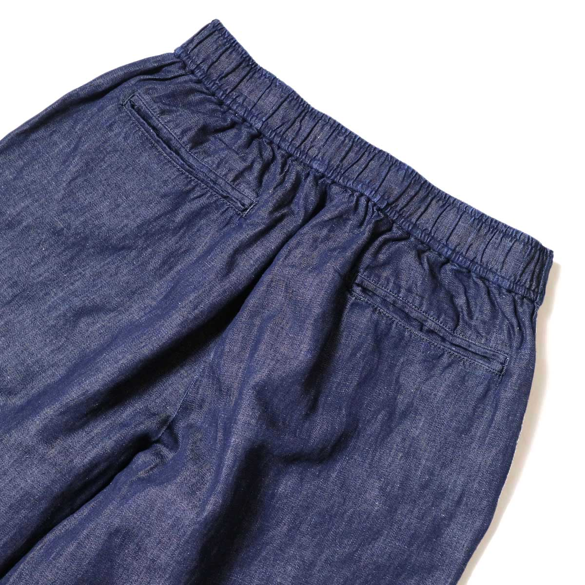 maison de soil / COTTON LINEN EASY WIDE PANTS (Navy) 背面ウエスト