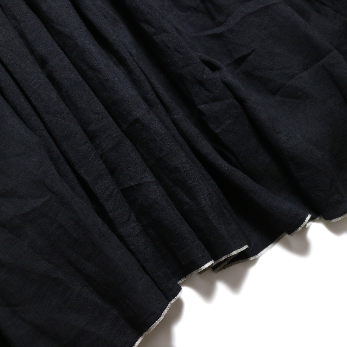 maison de soil / Pandom Pleats Dress -Black 裾