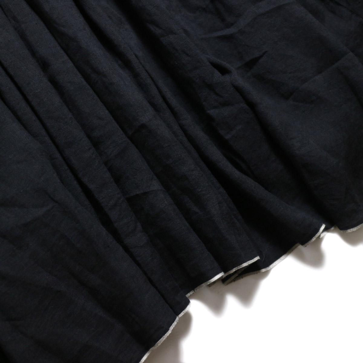 maison de soil / Random Pleats Dress -Black 裾