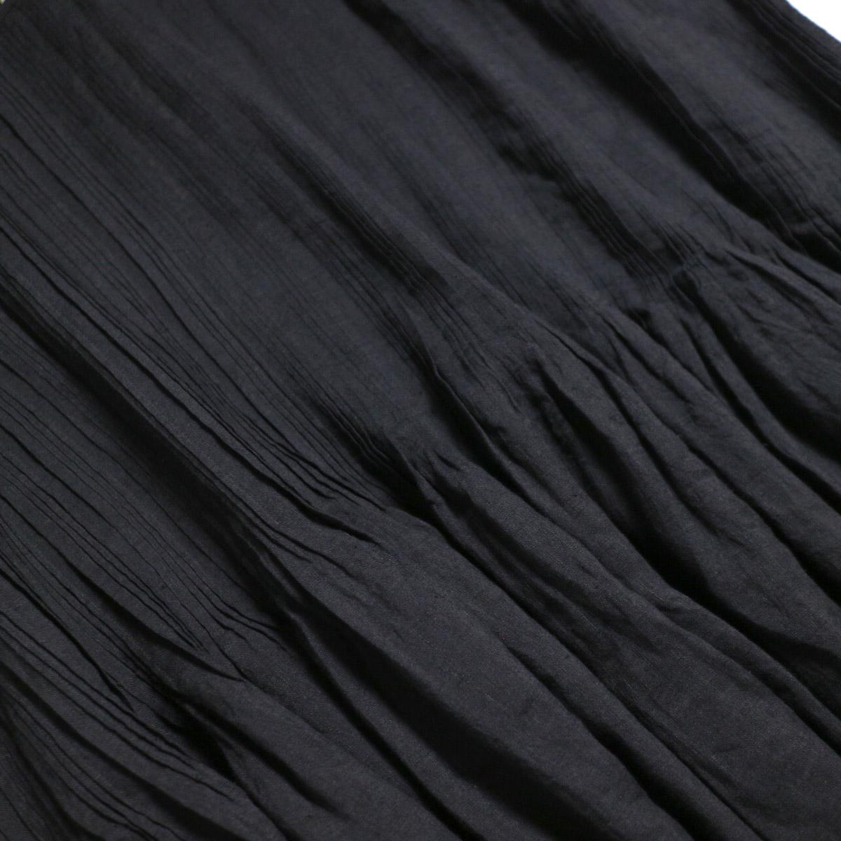 maison de soil / Random Pleats Dress -Black プリーツ