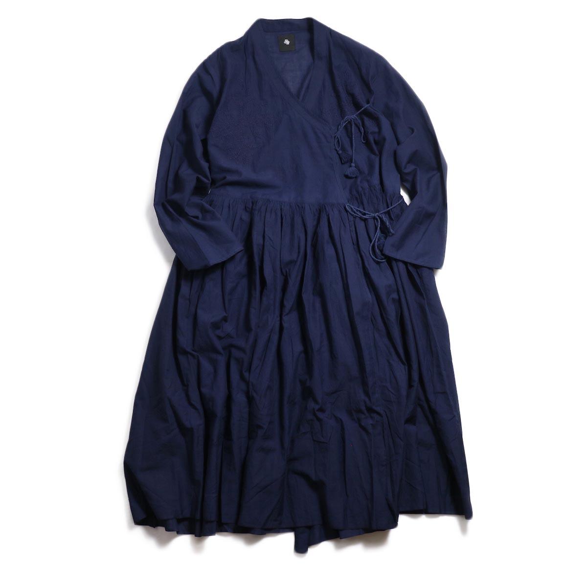 maison de soil / Cache Coeur Dress With Lucknow Embroidery -Dk.Navy