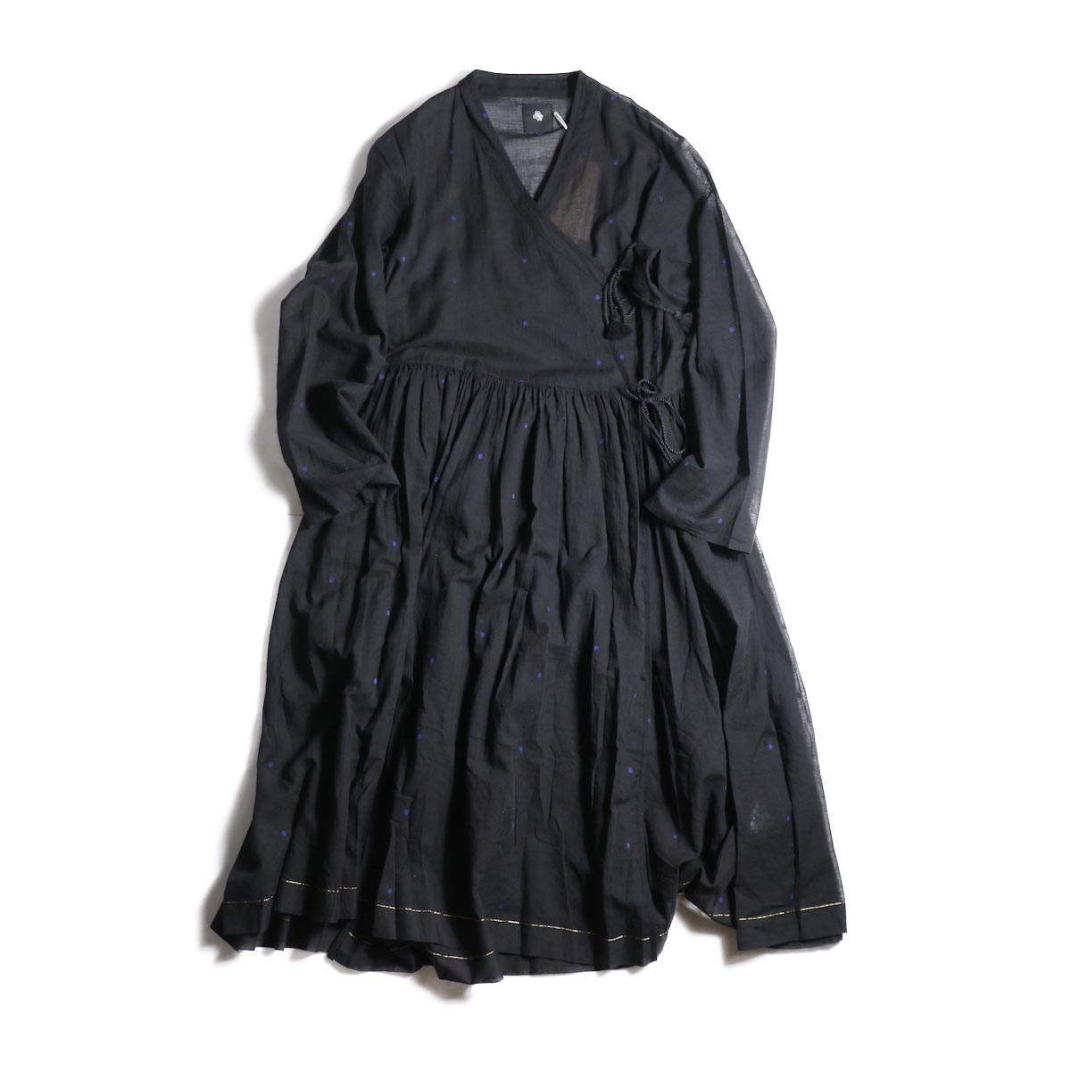 maison de soil / CACHE COEUR DRESS (BLACK/BLUEDOT)