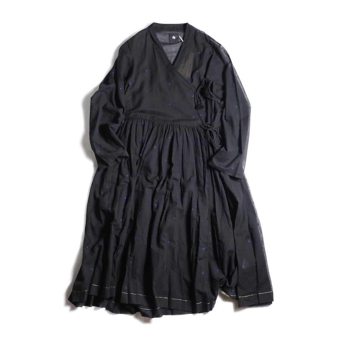 maison de soil / CACHE COEUR DRESS (BLACK/BLUEDOT)
