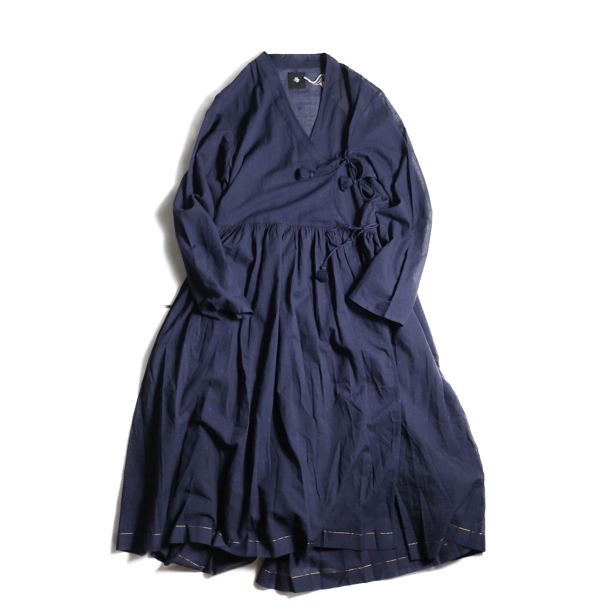maison de soil / CACHE COEUR DRESS (NAVY/BLUEDOT)