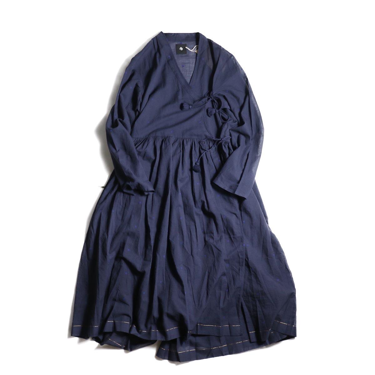 maison de soil / CACHE COEUR DRESS (NAVY/BLUEDOT)正面
