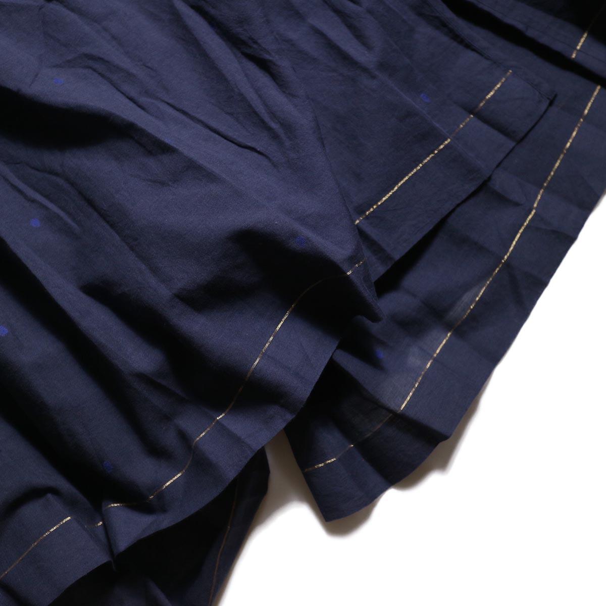 maison de soil / CACHE COEUR DRESS (NAVY/BLUEDOT)裾