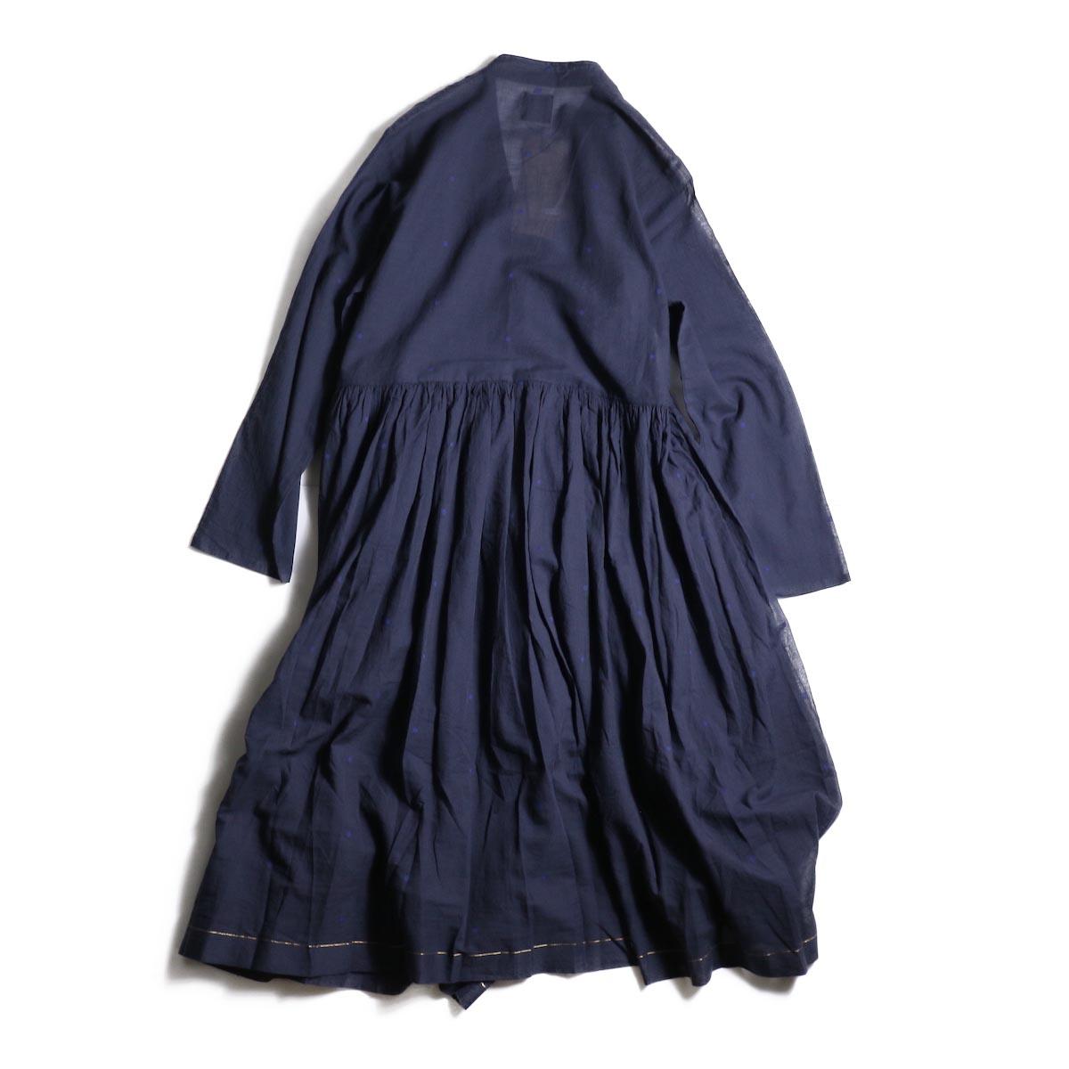 maison de soil / CACHE COEUR DRESS (NAVY/BLUEDOT)背面