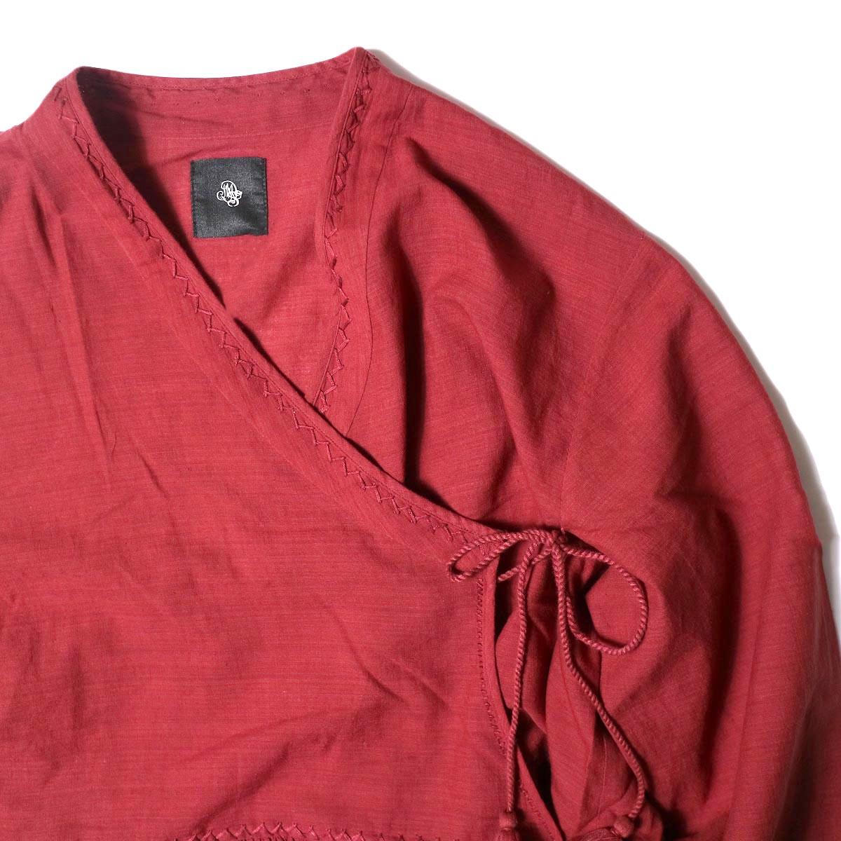 maison de soil /  CACHE COEUR DRESS (deep red) フロント