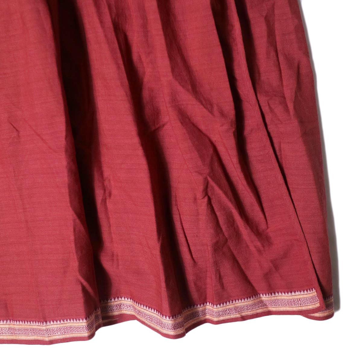 maison de soil /  CACHE COEUR DRESS (deep red) 裾