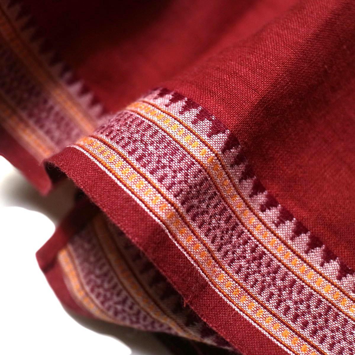 maison de soil /  CACHE COEUR DRESS (deep red) ジャガード織り