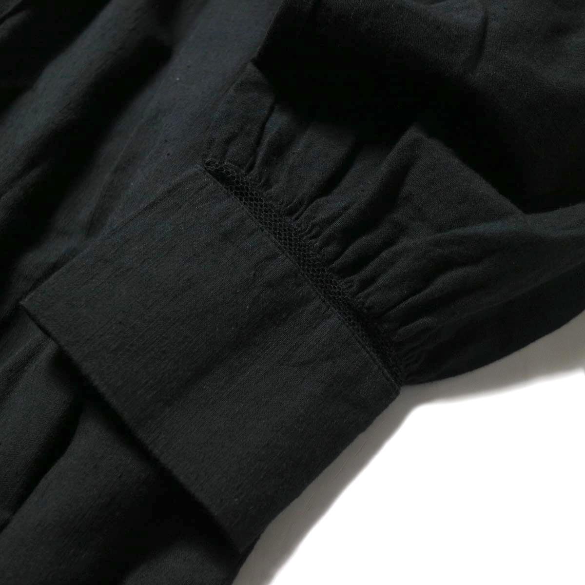 maison de soil / NECK GATHERED DRESS (black) ネットレース