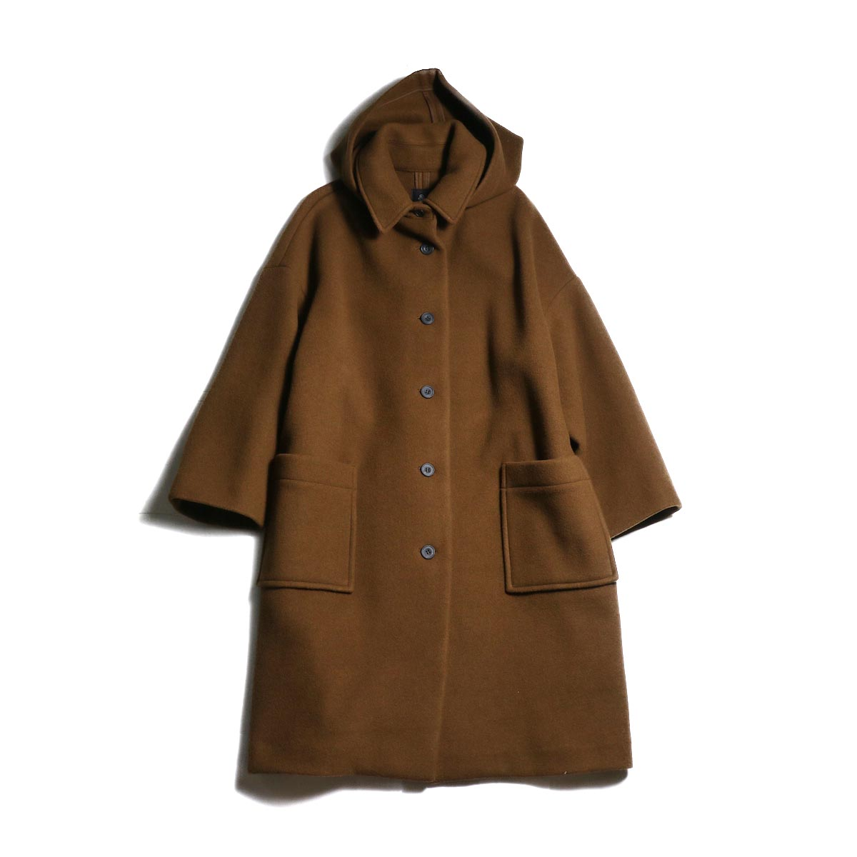 maison de soil / DETACHABLE HOODED COAT (Lt.Brown)