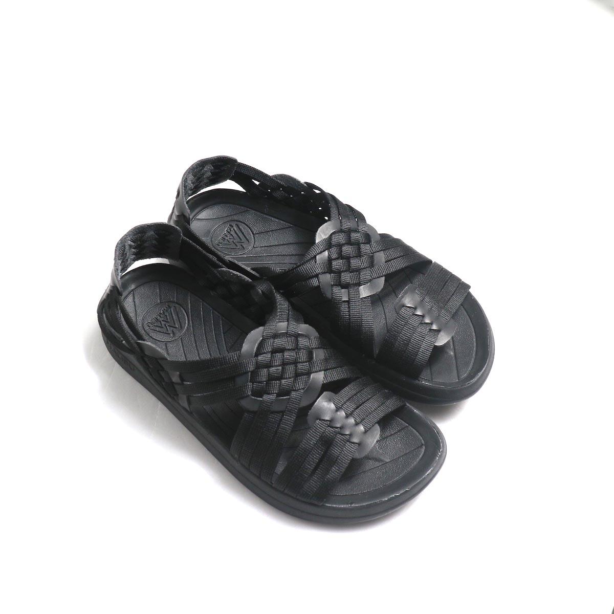 Malibu Sandals / Canyon (Nylon Weave) -Black ナナメ