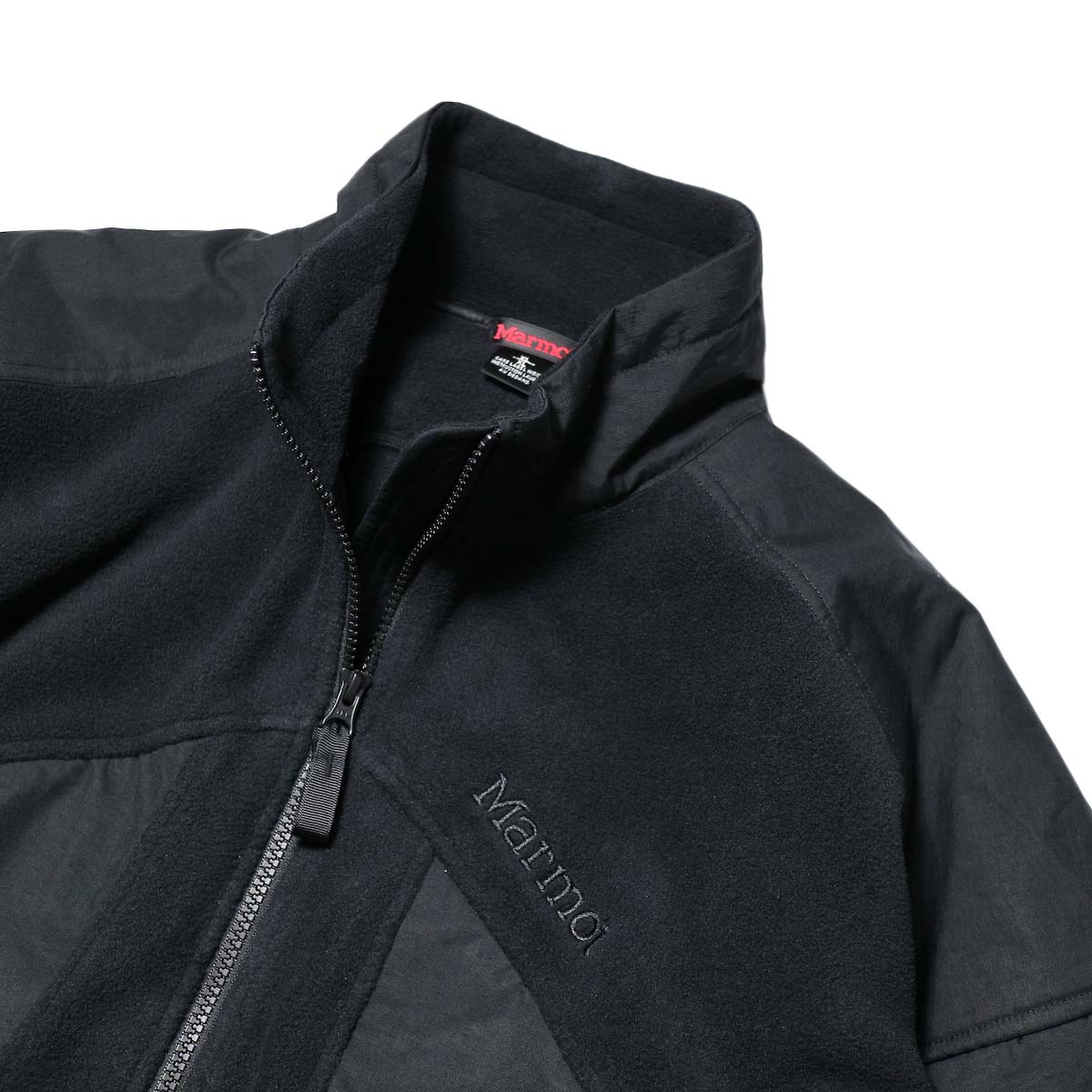 Marmot Histric Collection / Alpinist Tech Sweater (Black×Black)襟