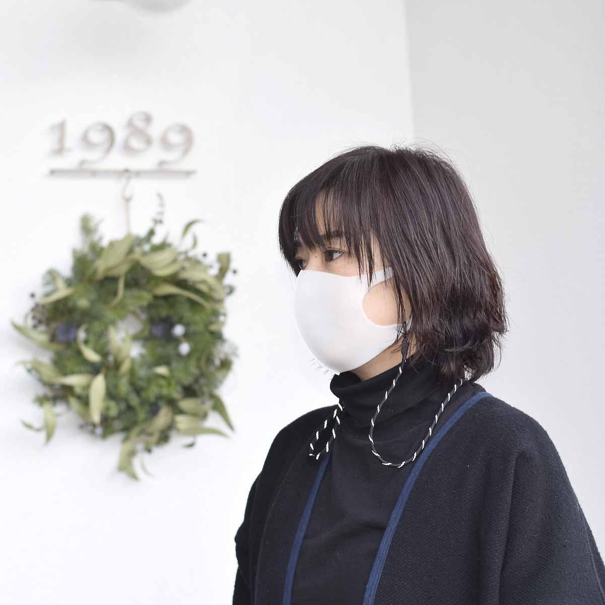 吉岡衣料店 / Mask Code. (Black Reflect)着用イメージ2
