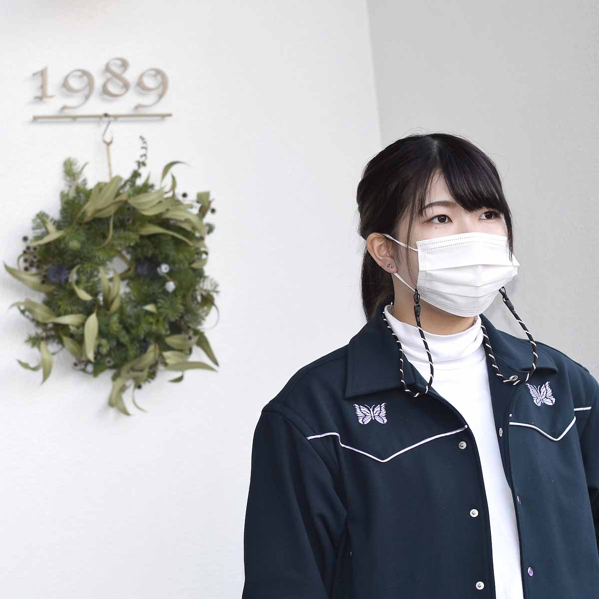 吉岡衣料店 / Mask Code. (Black Reflect)着用イメージ3